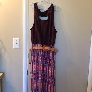 Faded glory dress purple pink teal orange  1x